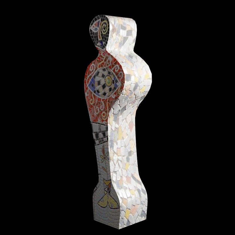 3d model of sculpture floor
