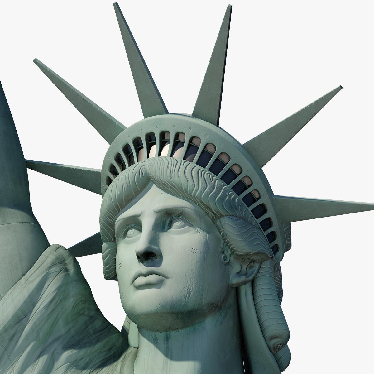 3d model of statue liberty