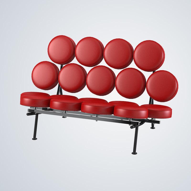 nelson marshmallow sofa 3d model