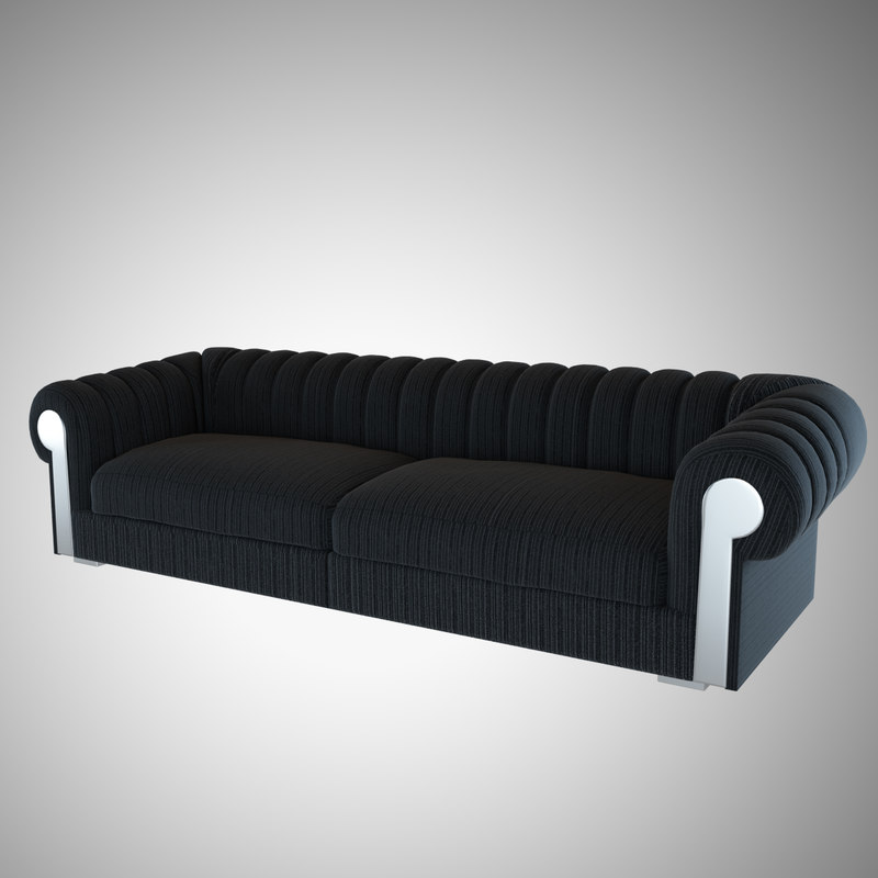 fendi couch 3d model
