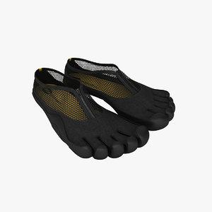 3ds max vibram fingers shoes