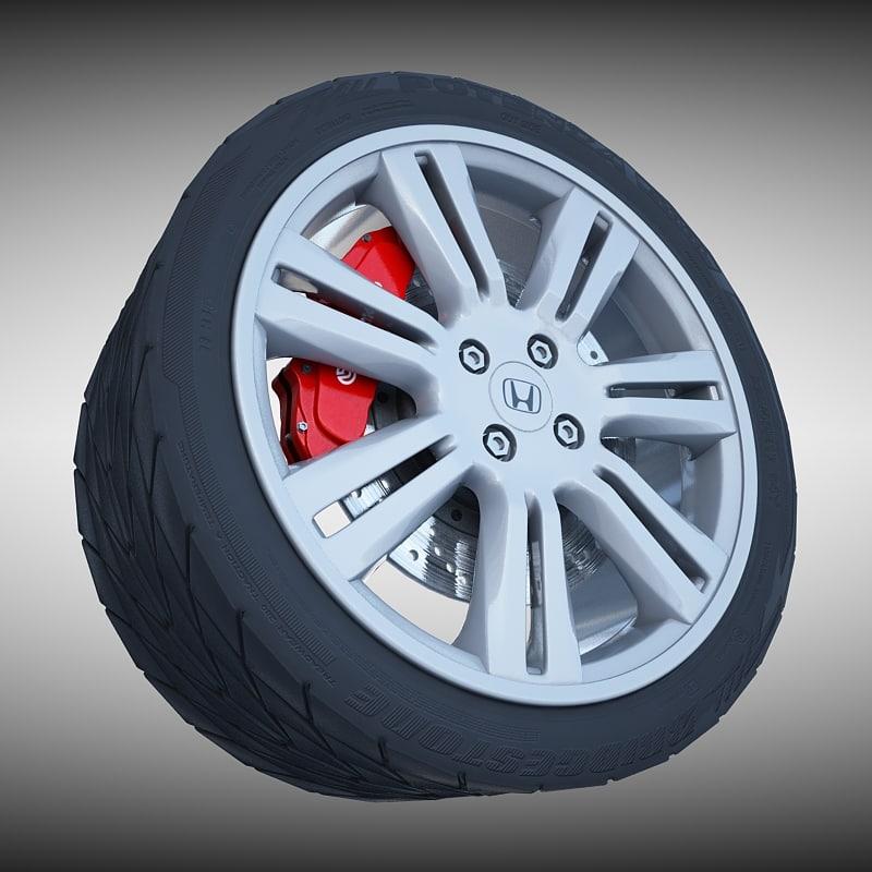 3ds honda alloy wheel