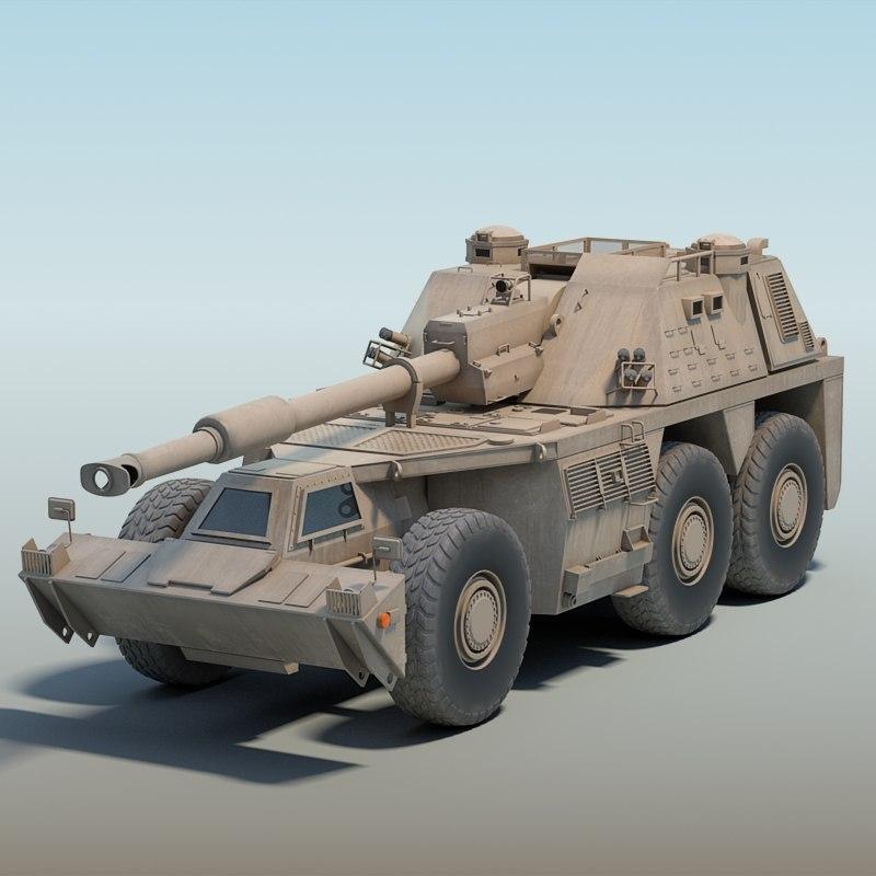 3d south africa g6 rhino model