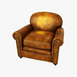 chesterfield chair armchair 3d model