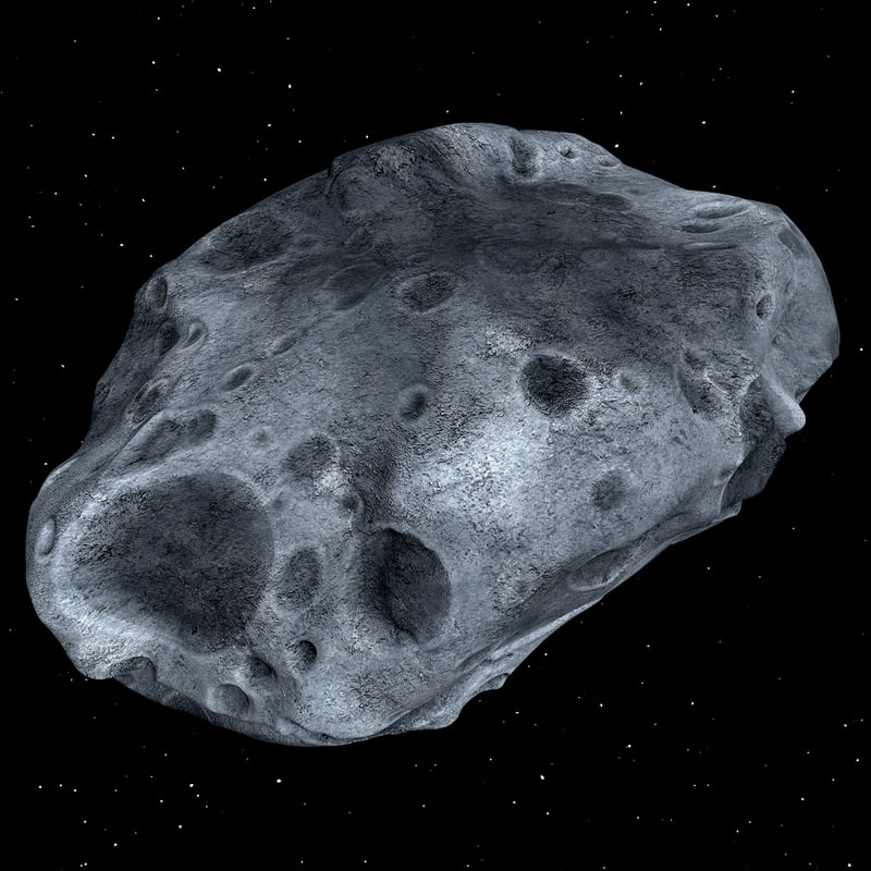 3ds max modeled asteroid