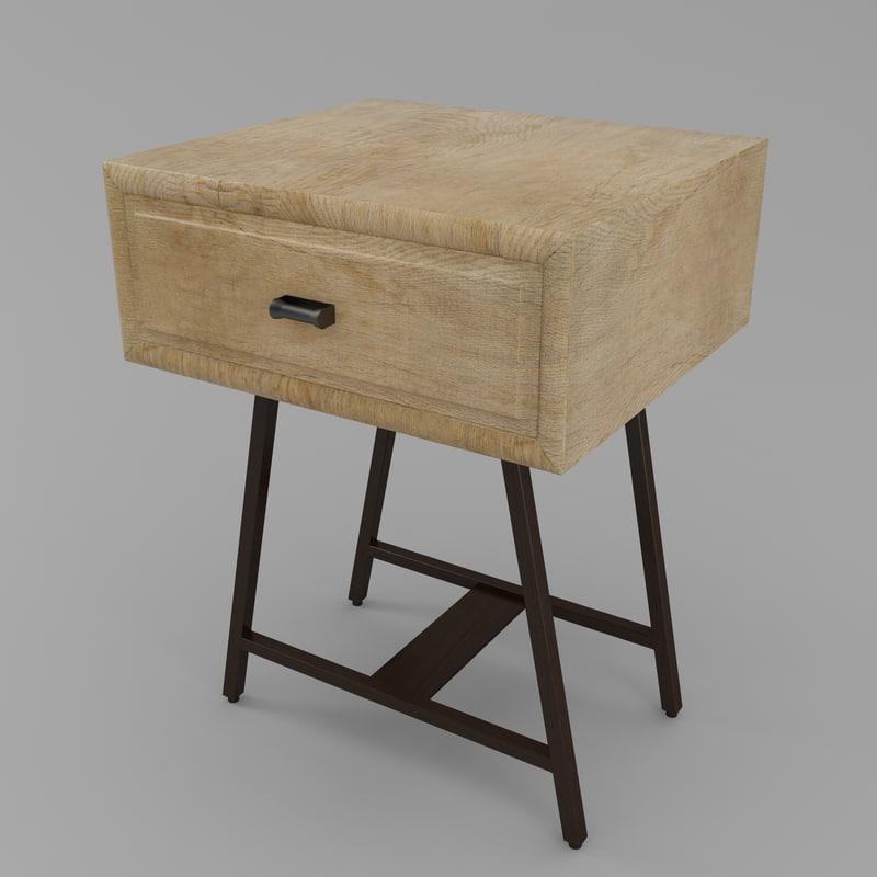 3d loaf campaign table design model