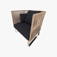 armchair leather stripes max