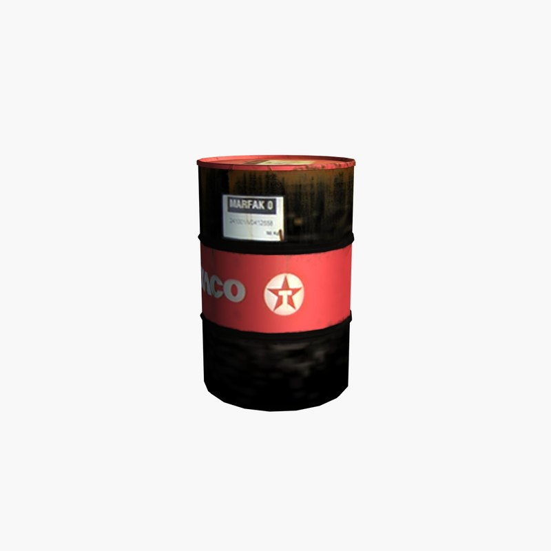 gameready oil barrel 3d 3ds