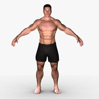 3d jake unrigged realistic male