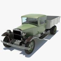 3d model gaz-aa truck