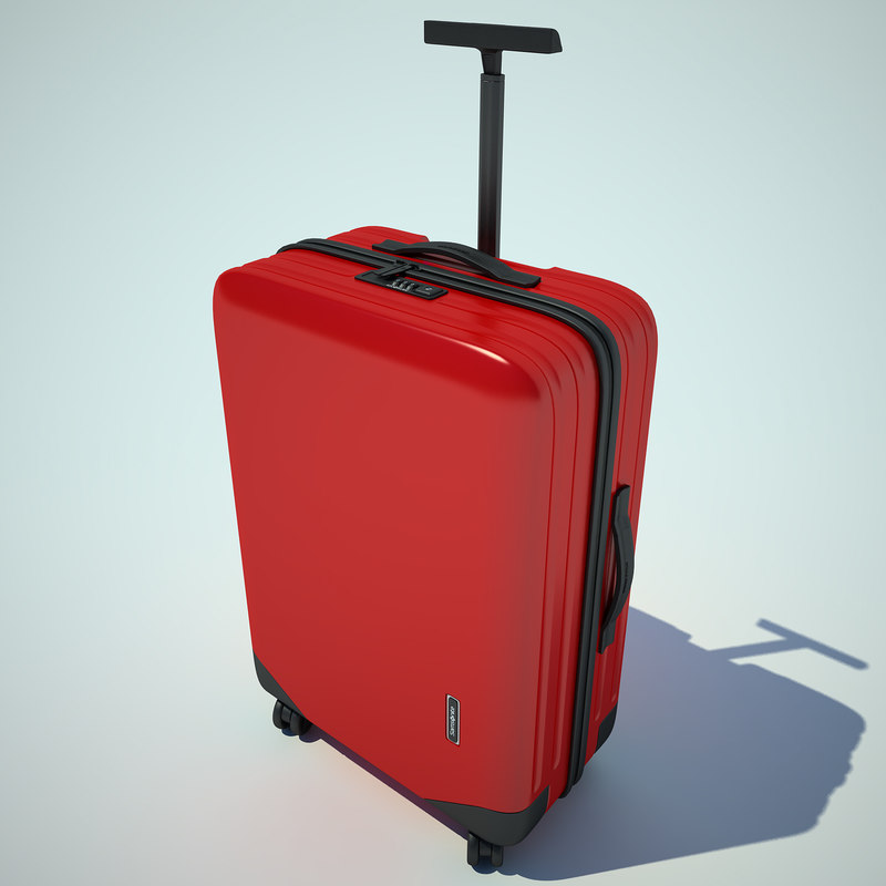 suitcase samsonite case 3d 3ds