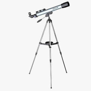 3d model photoreal telescope meade 50az-p