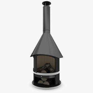 3d garden fireplace model
