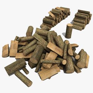 3d firewood modeled