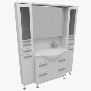 3d model of bathroom furniture