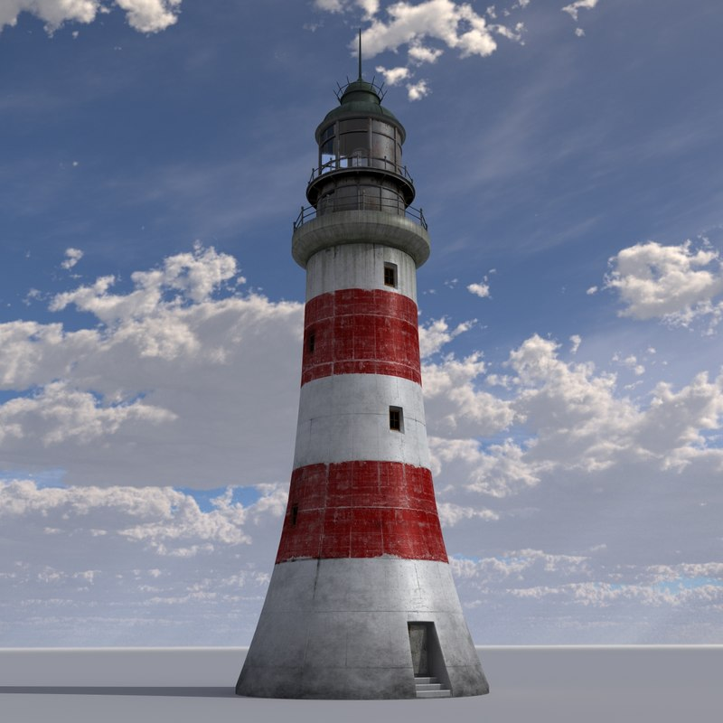 lighthouse structure 3d model