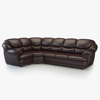 short corner sofa osvald 3d model