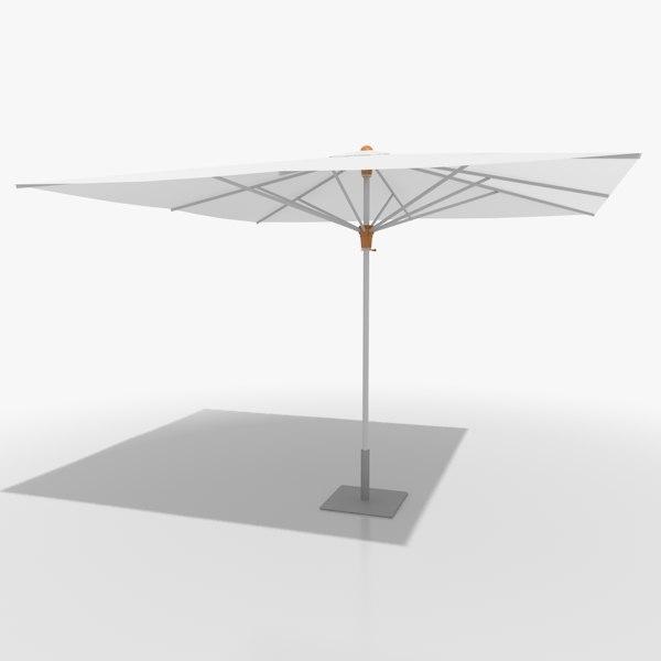 3d model parasol sunshade