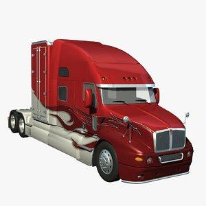 t2000 truck aerodynamic 3d lwo