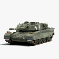 3d model japanese type 90 battle tank
