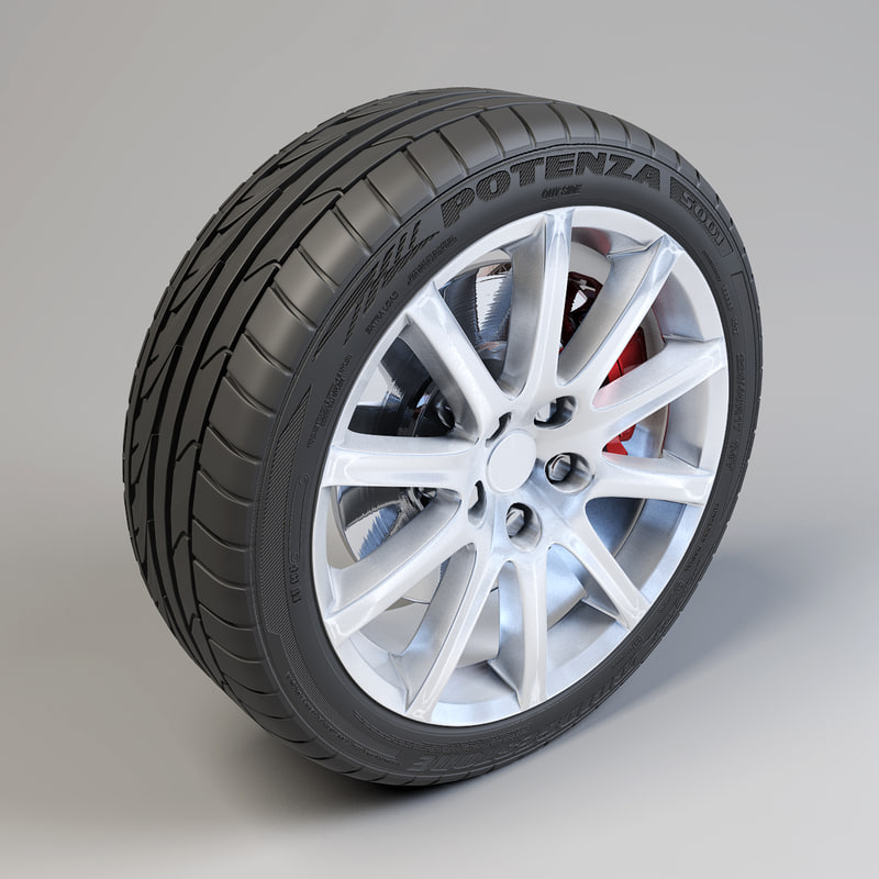 10 spokes wheel potenza 3d max