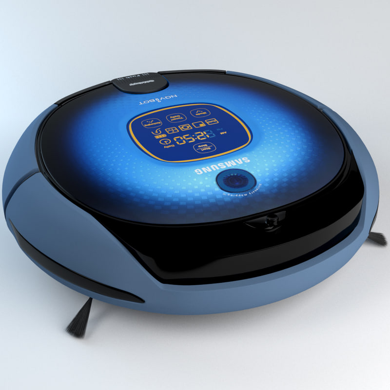 3d model robot vacuum cleaner