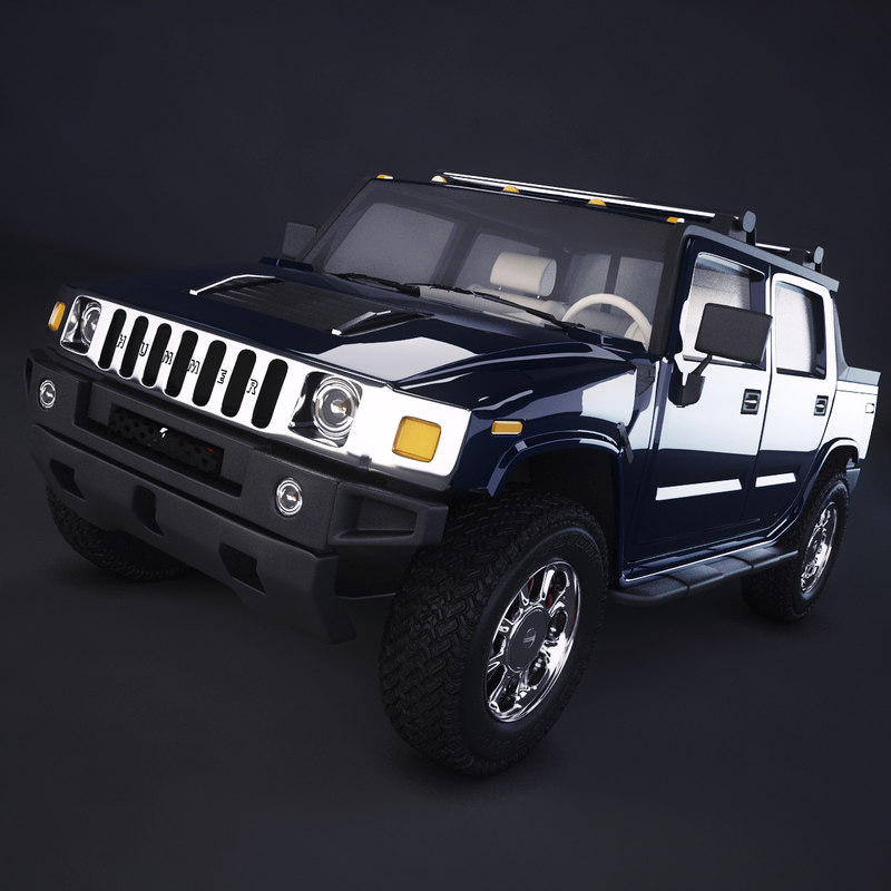 3ds max hummer h2 sut 2004