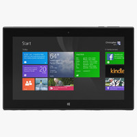 3d 3ds nokia lumia 2520 black