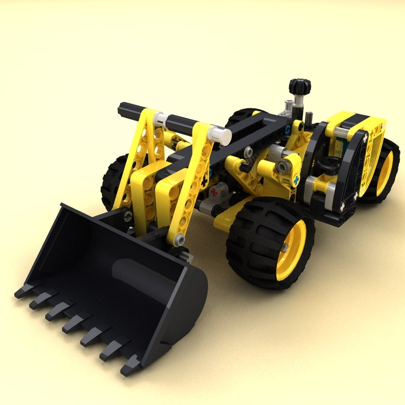 3ds lego technic telehandler
