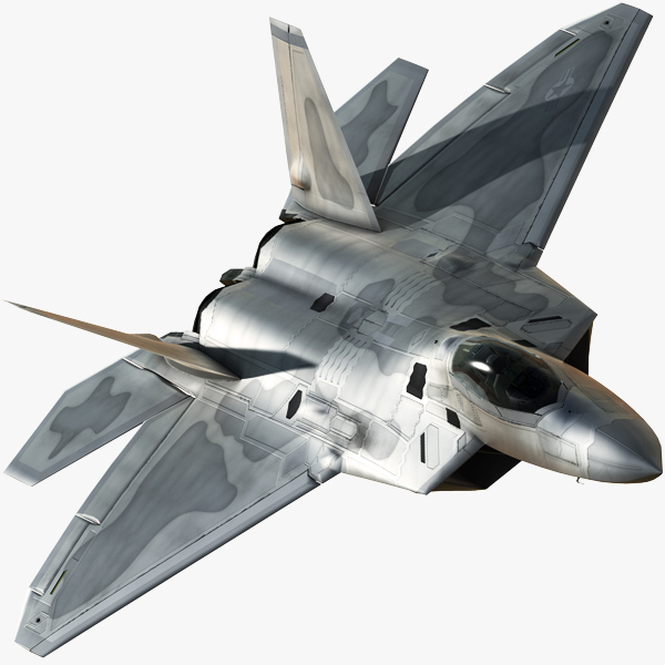 3d model of f-22a fighter
