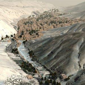 town games terrain 3d model