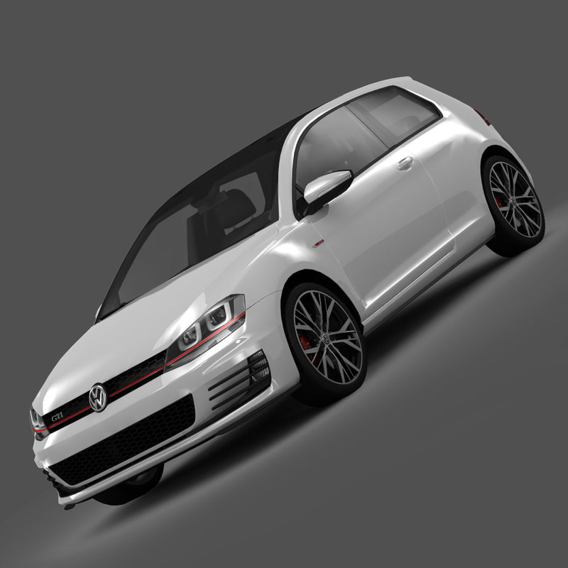 3d max volkswagen golf gti 3-door