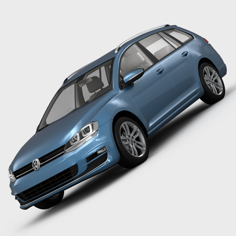 volkswagen golf variant 3d model
