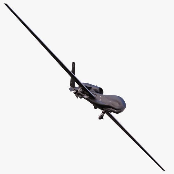 3d model northrop grumman rq-4 global hawk