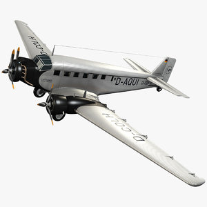 junkers ju 52 transport 3d 3ds