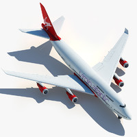 3dsmax boeing 747 virgin atlantic