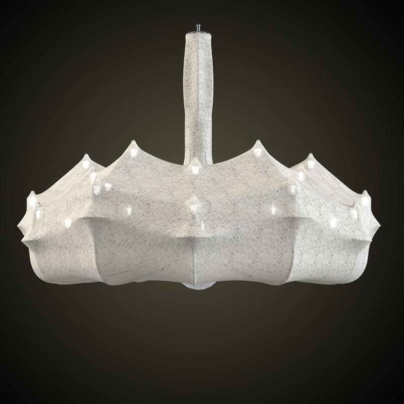zeppelin chandelier 3d obj