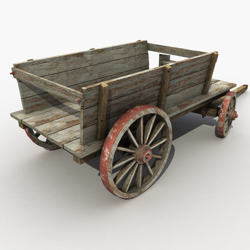 max old wooden cart