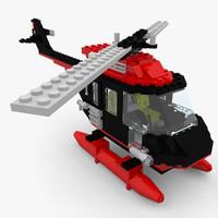 helicopter lego set 5590 3d obj
