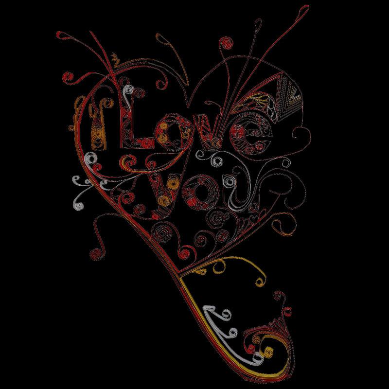 obj quilling love 1