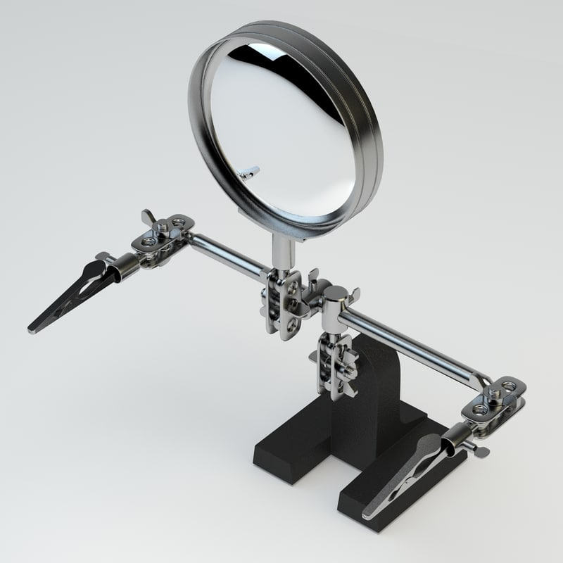 3d model adjustable parts holder magnification