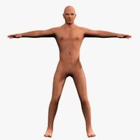 human base 3d model