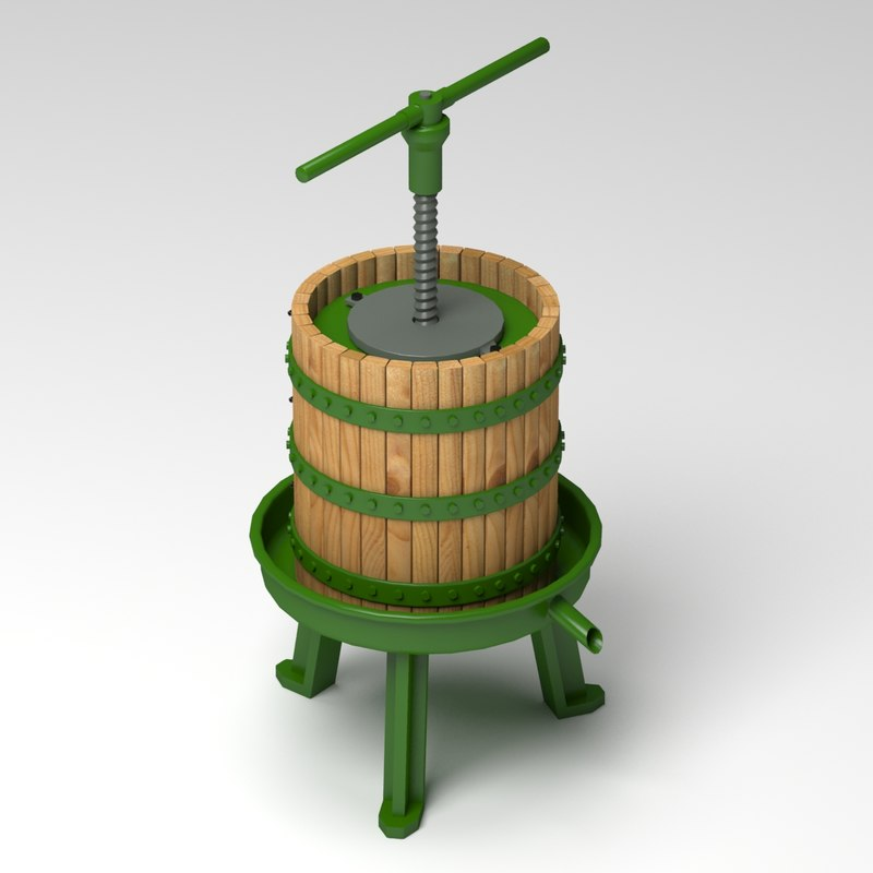old wine press 3d model