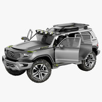 Mercedes Ener G Force SUV Rigged