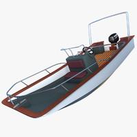 c4d motorboat motor