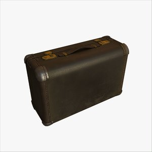 old worn leather suitcase max