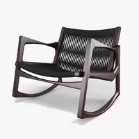 3d 3ds euvira armchair