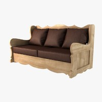 max wood sofa