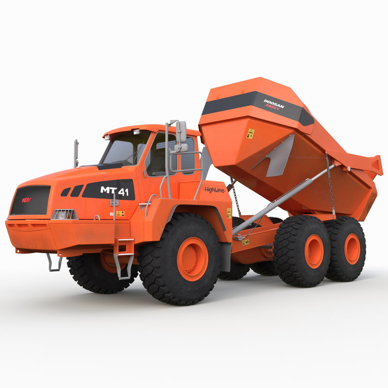 articulated truck doosan moxy max