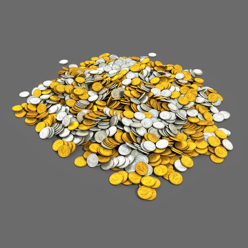 coin 1 3d model